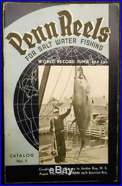 1939 Penn Salt Water Fishing Reels Catalog No. 7 Philadelphia, PA