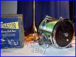 1950's Penn Senator 12/0 Big Game Fishing Reel With Box Original+Beauty Nrmt
