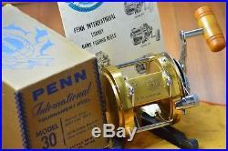 1970's Vintage New Old Stock PENN INTERNATIONAL 30 BIG GAME Saltwater Reel