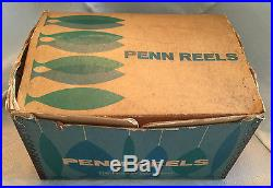 1971 Vintage PENN REELS 114H 6/0 SENATOR Big Game Reel withBox & CatalogEUC