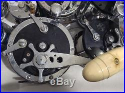 25PC Vintage Reel LOT Penn Super Mariner Senator Shakespeare USA Game Fishing