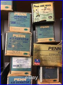 28 Vintage Penn Spinfisher ++ Reel Box Boxes Only, 704Z, Long Beach, Mitchell