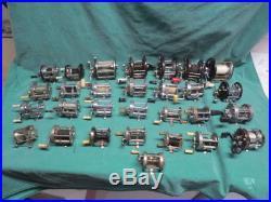 29 vtg Baitcasting Fishing Reels Penn Daiwa Pflueger Shakespeare South Bend etc