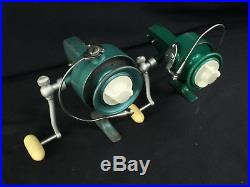 2 Early Vintage Penn Fishing Reels Spinfisher 704 & 1 More 710 Greenie