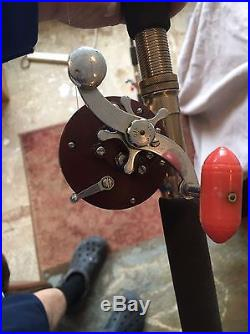2 Penn Peerless No. 9 Salmon Fishing Reel and Rod Combo No Reserve