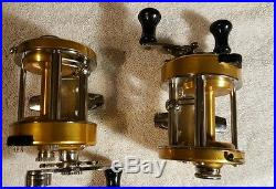 2 Vintage Penn Levelmatic fishing Reels 930 & 940