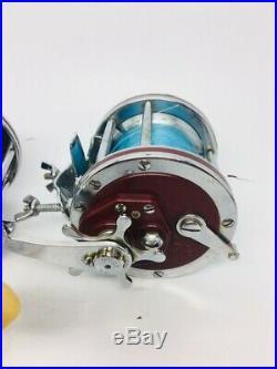 2 Vintage Penn Senator 112H 3/0 Special Saltwater Fishing Reels High Speed