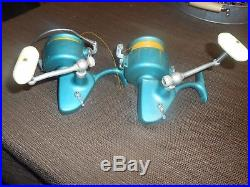 2 Vintage Penn Spinfisher 704 Greenie Ocean Sea Salt Water Spinning Reel USA