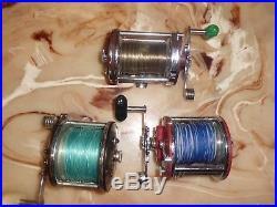 3- Vintage Penn Squidder 140 -Long Beach 60-Peer 209 Conventional Reels- USA