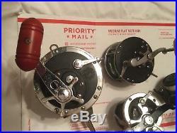 4 Penn Reels 9/0 Senator, 149, 220 GTO, & 240 GR Spinner Vintage Reels
