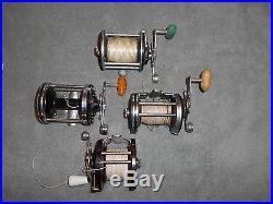 4 vintage penn fishing reels