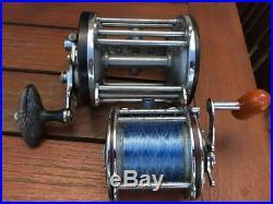 5 Reels 4 are Penn, Old Ocean City Long Key Reel, Penn 704 Spinfisher & 6/0