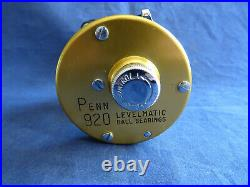 A Super Vintage Penn 920 Levermatic Multiplier Reel