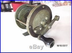 Antique Vintage Bait Casting/Baitcasting Fishing Reel Penn Pennell #300 Brass