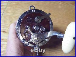 Beautiful Vintage Penn Senator Model 114-11 Maroon Heavy Duty Salt Water Reel