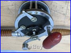 C1950s H-I HORROCKS IBBOTSON 67 DEEP SEA ROD PENN 49 REEL SPLIT BAMBOO ORIGINAL