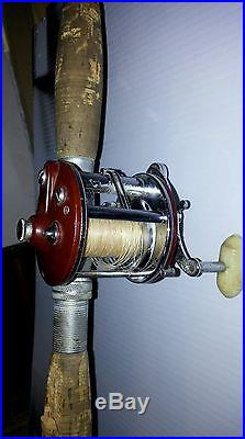Collectable RICH LUDWIG fishing rod 4'9withPenn Peerless No. 9 reel