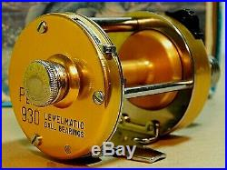 Collectible 70's USA Vintage Penn Levelmatic 930 casting reel-used/excellent+