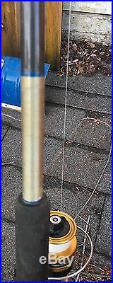 Custom saltwater surf rod 12' vintage /6500 Penn reel perfect working condition
