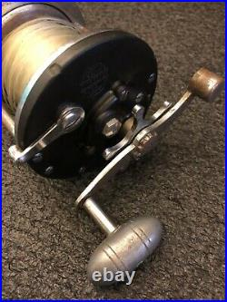Early Vintage 1930s Penn Long Beach Fishing Reel LOOK Pending Patent USA