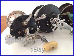 Estate Lot of 8 Vintage PENN Fishing Reels Collectible Lot