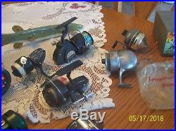 Fishing Reels a Group of 15 Vintage Fishing Reel's Bache Brown, Penn, Imperial