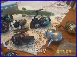 Fishing Reels a Group of 15 Vintage Fishing Reel's Bache Brown, Penn, Imperial