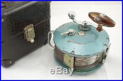 Large Vintage Deep Sea Big Game Water J. A. Williams Penn Fishing Reel In Case
