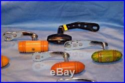 Lot 11 Old Vintage Fishing Rod Reel Penn Large Handels Collectible Tackle Lure