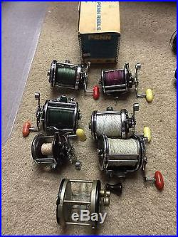 Lot Of 6 Vintage PENN Conventional Reels And An Additional Antique Reel