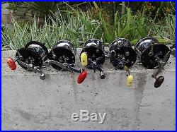Lot Of, Five, Vintage. Penn. Fish Reels. (2) #350. (1)# 285, (2)#65, Long Beach, Very