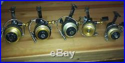 Lot of 5 Vintage Penn Spinning Reel 712 714z 722z USED CONDITION
