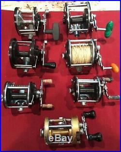 Lot of 7 Vintage PENN BIG GAME Saltwater Fishing Reel PEER 209 109 309 940 60 85