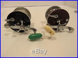 Lot of 7 Vintage Used Fishing Reels UNTESTED AS IS, Penn Peer Benora Shakespeare