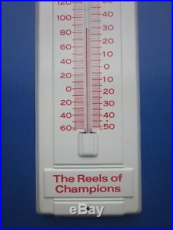 NEW 1980's PENN REELS SPORT FISHING ADVERTISING THERMOMETER 30 YEARS OLD