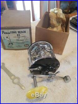 NEW Vintage PENN Long Beach Salt Water Reel # 65 Original Box MINT CONDITION