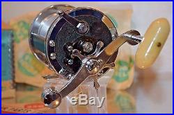 Nos Old Vintage Fishing Rod Reel Penn 259m Long Beach Collectible Display Lure