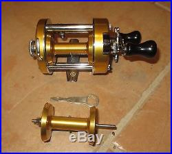 NOS PENN LEVELMATIC No. 940 BAITCASTING REEL IN BOX withXTRA SPOOL AND TOOL