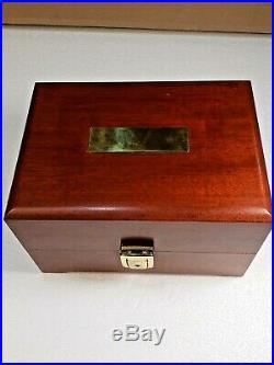 New Penn International 50th Anniversary presentation reel in wood box 1932-1982