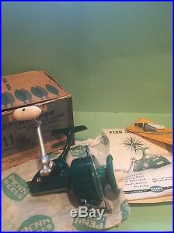 New Penn Vintage 711 Green Spinfisher Reel USA