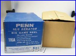 New old stock boxed Penn Senator 10/0 #116A fishing reel c1973 big game boat