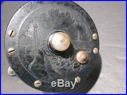OLD VINTAGE EARLY PENN SEA HAWK No 42 FISHING REEL WOOD HANDLE 150 yd 1941-1942