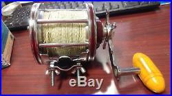 Old Vintage Penn 113H 4/0 Senator Saltwater Fishing Reel in Original Box & Tools