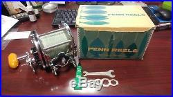 Old Vintage Penn 114 6/0 Senator Saltwater Fishing Reel in Original Box with Tools