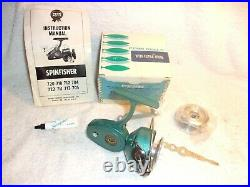PENN 722 SPINFISHER SPINNING FISHING REEL GREENIE NEW IN BOX with ORIGINAL EXTRAS