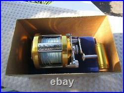 PENN International 6 Reel, never used, in original box with accessories scarce