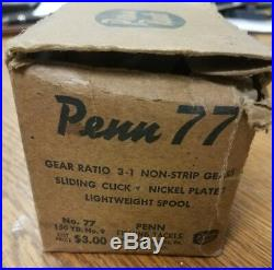 PENN No. 77 Reel with early box and catolog