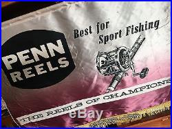 Penn Reels Tackle Shop Dealer Display, Large & Epic! Rare Vintage Fishing