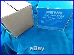 PENN Senator 12/0 Big Game Fishing Reel Deluxe Special 116 Wood Handle NR