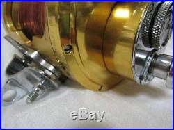 PENN Vintage Fishing Reel International II 80STW 2Speed Gold made in USA